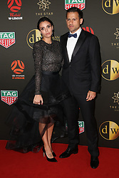 Players from the Westfield W-League and Hyundai A-League arrive on the red carpet for the 2018 Dolan Warren Awards at The Star Event Centre - 80 Pyrmont St, Pyrmont, NSW. 30 Apr 2018 Pictured: Raquel Strutz, Bobo Strutz. Photo credit: Richard Milnes / MEGA TheMegaAgency.com +1 888 505 6342
