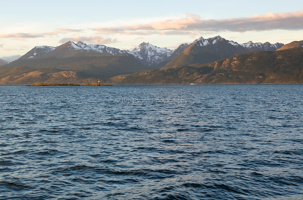 A view of the Chilean Fjords from a boat.