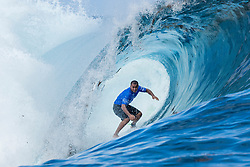 Aug 12, 2017 - Teahupo'o, French Polynesia, Tahiti - Wiggolly Dantas of Brazil, current No.25 on the Jeep Leaderboard advanced directly to Round Four of the Billabong Pro Tahiti after defeating 2015 World Champion Adriano de Souza of Brazil in Heat 3 of Round Three. (Credit Image: © Kelly Cestari/World Surf League via ZUMA Wire)