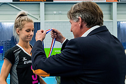 29-09-2018 NED: Supercup Sliedrecht Sport - Eurosped, Sliedrecht<br /> Sliedrecht takes the first price of the new season / Judith Kamphuis #3 of Eurosped