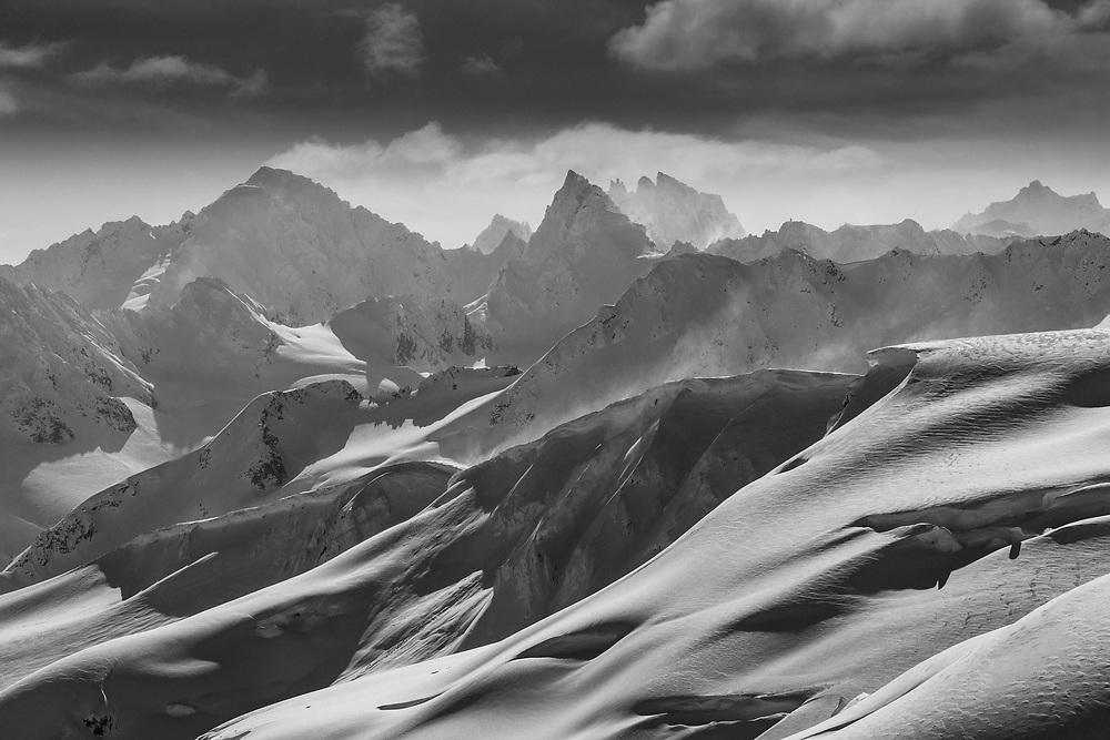 The mountains of Alaska.