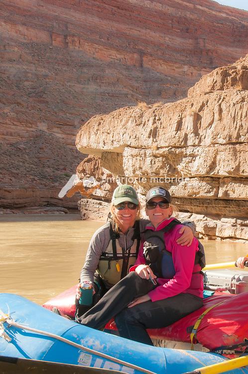 Family fun rafting on the San Juan River in Southern Utah.