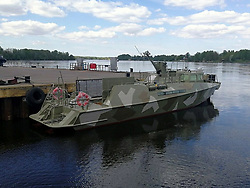 May 31, 2017 - Saint Petersburg, Russia - May 31, 2017. - Russia, Saint Petersburg. - Pella Shipyard (Leningrad Region) has launched the patrol boat of Project 03160. Upon completion of tests the boat will be delivered to the state customer and join the Baltic Fleet of RF Navy. In picture: patrol boat of Project 03160. Photo: Russian Navy Press Service. (Credit Image: © Russian Look via ZUMA Wire)