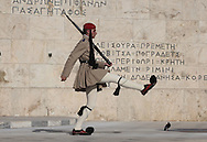 The changing of the guards at the Tomb of the Unknown Soldier at the House of Parliment in Athens, Greece, Photograph by Dennis Brack