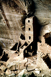 CO: Colorado Mesa Verde National Park, Cliff Palace, Saguaro Tower    .Photo Copyright: Lee Foster, lee@fostertravel.com, www.fostertravel.com, (510) 549-2202.Image comesa205