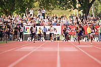 09.07.2019; Luzern; LEICHTATHLETIK - Spitzenleichtathletik Luzern, Julian Forte (JAM), Taymir Burnet (NED), Kemar Hyman (CAY), Yoshihide Kiryu (JPN), Akani Simbine (RSA), Maenner Asafa Powell (JAM), Andrew Hudson (USA) 100m Maenner ; <br /> <br /> (Claudio Thoma/freshfocus)
