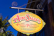 Aunt Sally's Creole Pralines factory in St Charles Avenue in New Orleans, Louisiana, USA