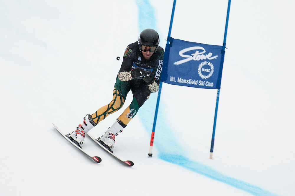 The University of Vermont ski team winter carnival giant slalom race at Stowe Mountain Resort on Friday January 29, 2016 in Stowe, Vermont.