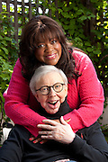 """8/17/11 12:06:33 PM -- Chicago, IL, U.S.A<br />  -- Roger Ebert and his wife Chaz on the deck behind their home in Chicago.<br /> <br /> Film critic Roger Ebert has written his memoir, """"Life Itself"""". He has battled cancer and cannot speak.  -- <br /> <br /> <br /> Photo by Anne Ryan, USA TODAY contract photographer"""