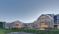 Exterior image of the Riverwoods at St Michaels apartment building in Maryland by Jeffrey Sauers of Commercial Photographics, Architectural Photo Artistry in Washington DC, Virginia to Florida and PA to New England