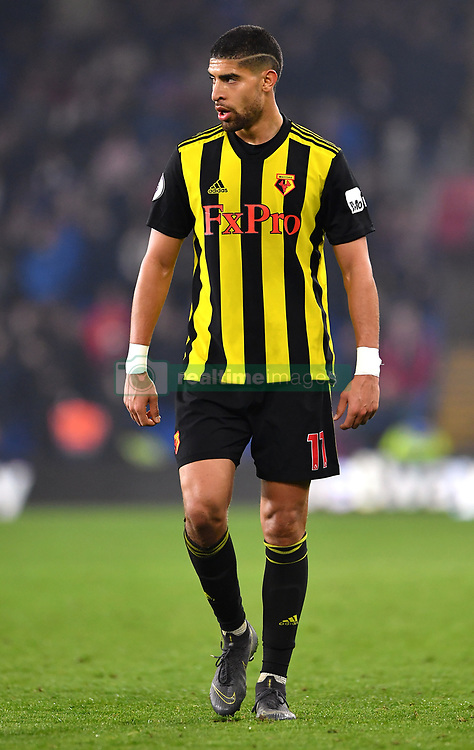 Watford's Adam Masina during the Premier League match at the Cardiff City Stadium.