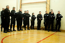 EMBARGO UNTILL 13:00 4th MARCH 2014<br /> South Yorkshire Police Officers are briefed before executing Warrants in Eastwood Rotherham early on Tuesday Morning<br /> <br /> 04 March 2014<br /> Image © Paul David Drabble <br /> <br /> www.pauldaviddrabble.co.uk