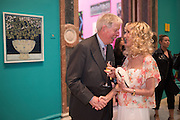LEN MCCOMB; BASIA BRIGGS Royal Academy Summer exhibition private view. Piccadilly. London. 3 June 2015