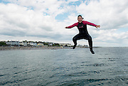 23/06/2014 Anna O Donoghue  from Salthill started her summer holiday with a splash at diving tower in Salthill. Photo:Andrew Downes.