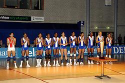 16-10-2006 VOLLEYBAL: DELA TROPHY: NEDERLAND - CUBA: ROTTERDAM<br /> De Nederlandse volleybalsters hebben de derde wedstrijd in de testserie tegen Cuba, met als inzet de Dela Cup, verloren. In Rotterdam zegevierde Cuba met 3-1 / Team Cuba<br /> ©2006-WWW.FOTOHOOGENDOORN.NL