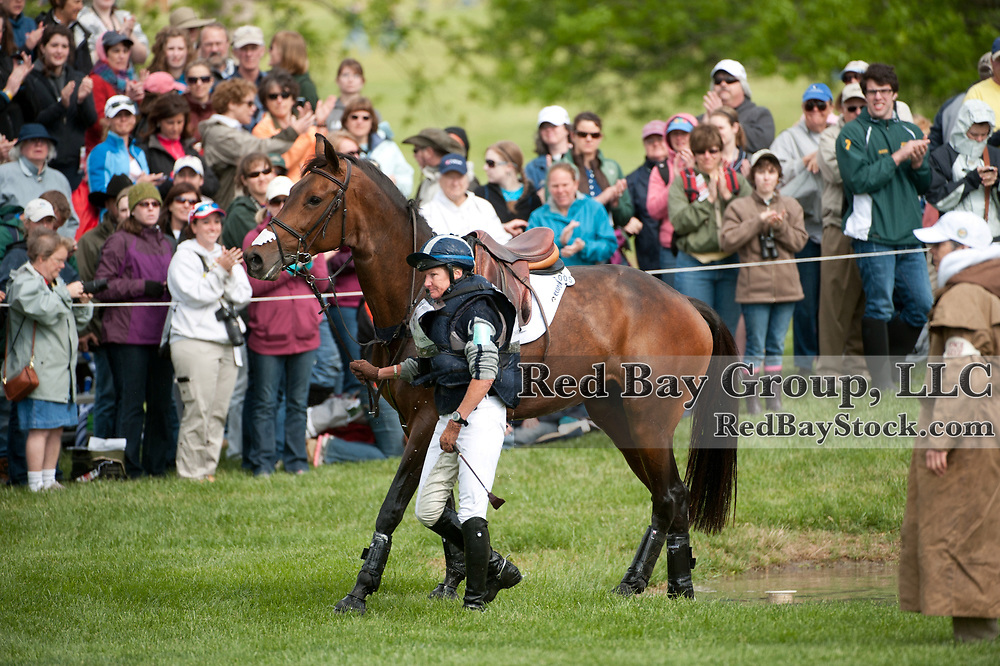 Karen O'Connor and Veronica at the 2012 Rolex Kentucky Three-Day Event held at the Kentucky Horse Park in Lexington, KY.