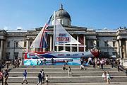 The Greaty Britain team clipper boat Trafalgar Square, London.
