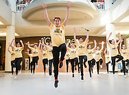 """Town of Wallkill, New York -  Warwick High School students perform a song from """"All Shook Up"""" during the Orange County Arts Council's All-County High School Musical Showcase and Arts Display at the Galleria at Crystal Run on Feb. 27, 2016."""