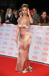 Ferne McCann attending the National Television Awards 2018 held at the O2, London. Photo credit should read: Doug Peters/EMPICS Entertainment