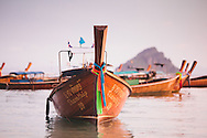 long tail boats koh phi phi don lei thailand