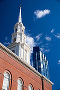 Park Street church tower, Congregational, Trinitarian, |Evangelical in Boston, Massachusetts, USA