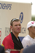 Seville, Andalusia, SPAIN<br /> <br /> 2002 World Rowing Championships - Seville <br /> - Spain <br /> <br /> Saturday  21/09/2002.<br /> <br /> Gold Medalist.  GER M1X. Marcel HACKER.  <br /> <br /> Rio Guadalquiver Rowing course<br /> <br /> <br /> [Mandatory Credit:Peter SPURRIER/Intersport Images]