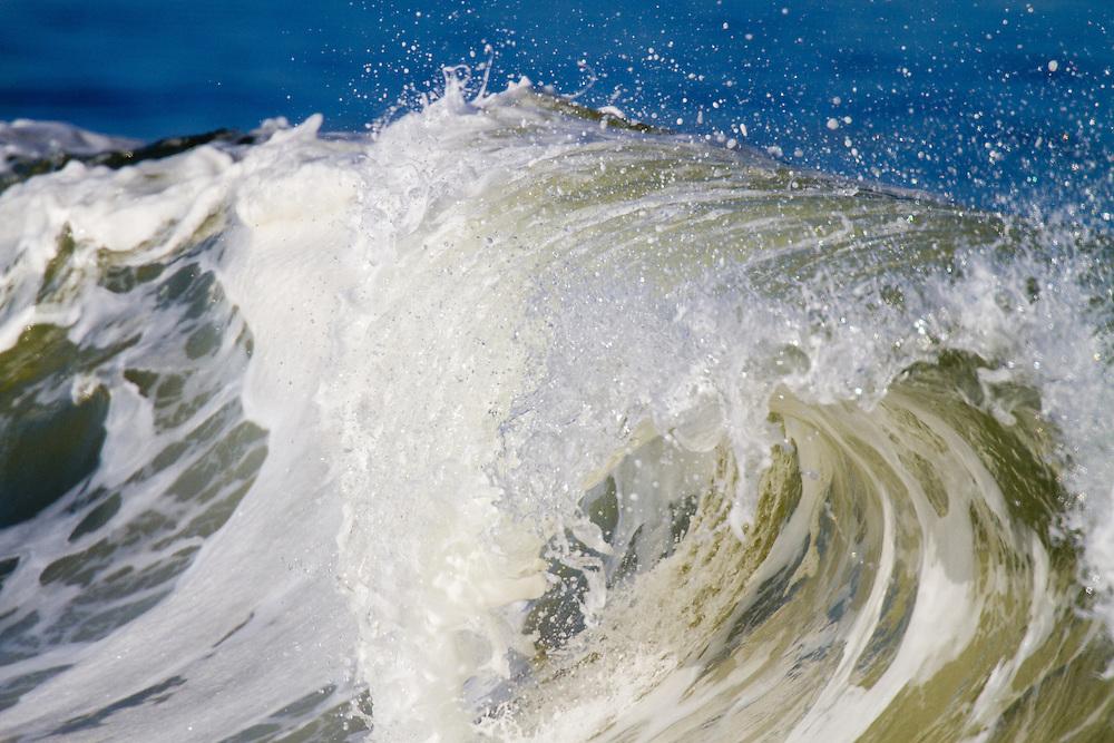 Waves Crashing on the Sandy Hook NJ Coastline..