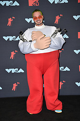 J Balvin poses in the Press Room during the 2019 MTV Video Music Awards at Prudential Center on August 26, 2019 in Newark, NJ, USA. Photo by Lionel Hahn/ABACAPRESS.COM
