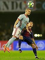 RC Celta de Vigo's Stanislav Lobotka (l) and FC Barcelona's Philippe Coutinho during La Liga match. April 17,2018. (ALTERPHOTOS/Acero)
