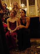 Imogen Hervey-Bathurst and  Jenna Barclay. Crillon Debutante Ball. Getting ready. Crillon Hotel. Paris. 26 November 2004. ONE TIME USE ONLY - DO NOT ARCHIVE  © Copyright Photograph by Dafydd Jones 66 Stockwell Park Rd. London SW9 0DA Tel 020 7733 0108 www.dafjones.com