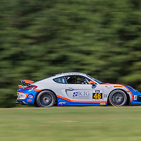 Alton, VA - Aug 26, 2016:  The Fall-Line Motorsports BMW M3 races through the turns at the Oak Tree Grand Prix at Virginia International Raceway in Alton, VA.