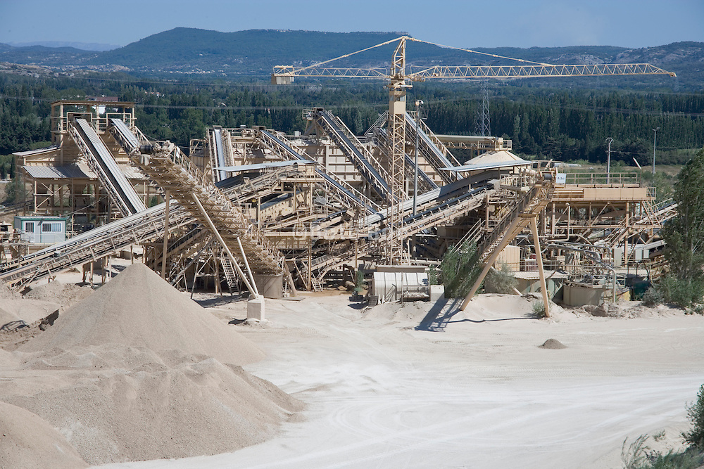 sand quarry France Provence