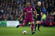 Fernandinho of Manchester city in action.  The Emirates FA Cup, 4th round match, Cardiff city v Manchester City at the Cardiff City Stadium in Cardiff, South Wales on Sunday 28th January 2018.<br /> pic by Andrew Orchard, Andrew Orchard sports photography.