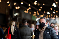 A man is seen walking through a packed South Melbourne Market during COVID-19 in Melbourne, Australia. Melbourne held hostage to a Premier unwilling to open up. After promising businesses and Melbournians that 'significant' announcements over easing restrictions would be made today, Premier Daniel Andrews once again backtracked on his commitments and has delayed Melbourne's reopening. This comes as the Northern Metro cluster continues to grow. (Photo by Dave Hewison/Speed Media)