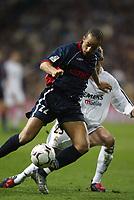 29/2/2004 Madrid, Spain.<br />La Liga (Spanish League) 26 day.<br />R.Madrid 4 - Celta 2<br />R.Madrid's D.Beckham in duel with Celta's Luccin at Santiago Bernabeu's Stadium.