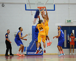 Action in front of the hoop. - Photo mandatory by-line: Nizaam Jones/JMP - Mobile: 07966 386802 - 08/11/2014 - SPORT - Basketball - Bristol - SGS Wise Campus - Bristol Flyers v Sheffield Sharks - British Basketball League