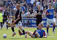 Carlisle's Peter Murphy and Swansea's Andy Robinson.