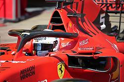 March 1, 2019 - Barcelona, Spain - the Ferrari of Sebastian Vettel during the Formula 1 test in Barcelona, on 01st March 2019, in Barcelona, Spain. (Credit Image: © Joan Valls/NurPhoto via ZUMA Press)