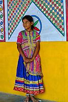 Inde, Gujarat, Kutch, village de Hodka, population d'ethnie Meghwal // India, Gujarat, Kutch, Hodka village, Meghwal ethnic group