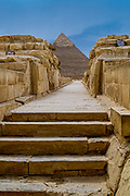 Just in front of, and to the right of the Great Sphinx, are two megalithic temples, known as the Sphinx Temple, and the Valley Temple