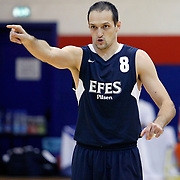 Efes Pilsen's Igor RAKOCEVIC during their friendly basketball match Efes Pilsen between Olympiacos at Efes Pilsen Arena in Istanbul, Turkey, Sunday, October 03, 2010. Photo by TURKPIX
