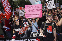 August 19, 2017 - Boston, Mssachusetts, U.S. - Thousands of Counter Protesters gathered around Reggie Lewis Center to get ready for antifascist protest march to Boston Common in Boston, Mssachusetts on Saturday. (Credit Image: © Go Nakamura via ZUMA Wire)
