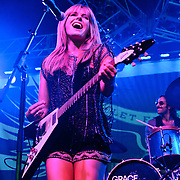 COLUMBIA, MD, -September 10th, 2011 - Grace Potter & the Nocturnals' brand of Led Zepplin-ish rock riffs got the crowd going despite their early set time at  the 2011 Virgin Mobile FreeFest at Merriweather Post Pavilion.  (Photo by Kyle Gustafson/FTWP).