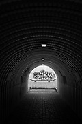 Gavirate. Lombardia. ITALY. General Views, Subway, Graffiti viewed through the tunnel,  Italy<br />  <br /> Friday  30/12/2016<br /> <br /> © Peter SPURRIER,<br /> <br /> <br /> LEICA CAMERA AG - LEICA Q (Typ 116) - 1/4000 - f1.7
