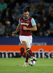 Andy Carroll of West Ham United in action  - Mandatory byline: Jack Phillips/JMP - 07966386802 - 22/09/2015 - SPORT - FOOTBALL - Leicester - King Power Stadium - Leicester City v West Ham United - Capital One Cup Round 3
