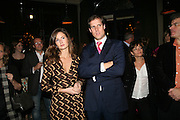 Rebecca Frances and Ed Smith, A A Gill party to celebrate the  publication of Table Talk, a collection of his reviews. Hosted by Marco Pierre White at <br />