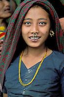 Nepal - Region de Pokhara - Jeune femme d'ethnie Chetri