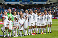 New Zealand FC ahead of the FIFA Women's World Cup UEFA warm up match between England Women and New Zealand Women at the American Express Community Stadium, Brighton and Hove, England on 1 June 2019.