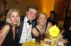 Left to right, MRS EDWARD LAW, LORD ANDOVER and ANTONIA BYRNE at 'A Rout' an evening of late evening party, essentially of revellers in aid of the Great Ormond Street Hospital Children's Charity and held at Claridge's, Brook Street, London W1 on 25th January 2005.<br /><br />NON EXCLUSIVE - WORLD RIGHTS
