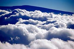Mauna Loa summit, view from Mauna Kea, Big Island, Hawaii